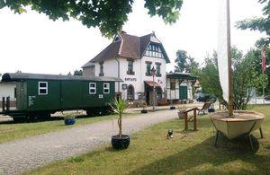 Touristeninformation Schwielochsee im ehemaligen  Spreewaldbahnhof in Goyatz