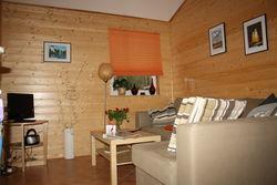 Wohnbereich im Ferienhaus Straupitz