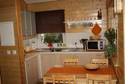 Küche im Ferienhaus Straupitz