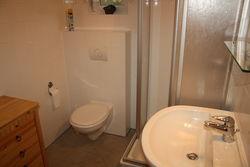Badezimmer im Ferienhaus Straupitz