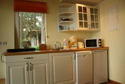 Die komfortable Küche im Ferienhaus Alt Zauche