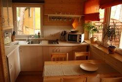 Küche im Ferienhaus Schwielochsee