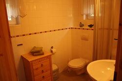 Badezimmer im Ferienhaus Schwielochsee