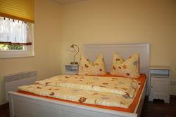 gemütlicher Schlafbereich im Ferienhaus Lieberose