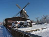 Holländerwindmühle im Winter